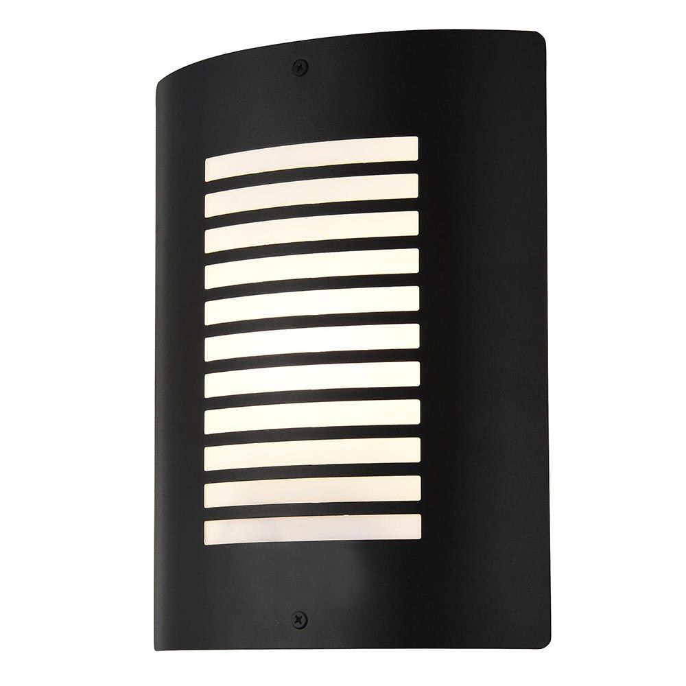 Sigma 1 Light Outdoor Slat Wall Lantern - Black From Litecraft