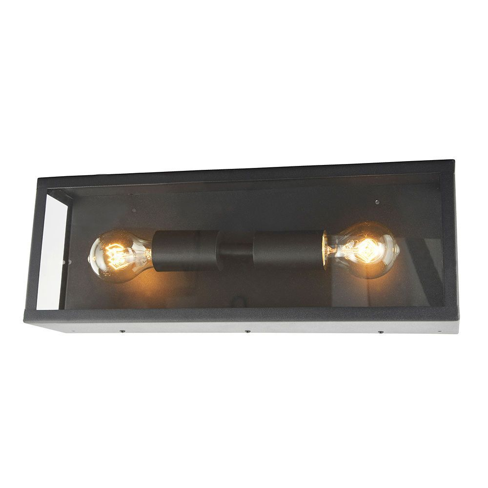 Litecraft Outdoor Wall Lights : Mersey 2 Light Outdoor Wall Light - Black From Litecraft