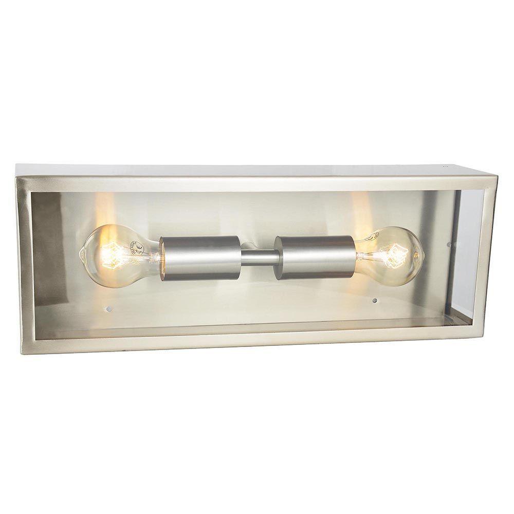 Wall Lights Litecraft : Mersey 2 Light Outdoor Wall Light - Stainless Steel From Litecraft