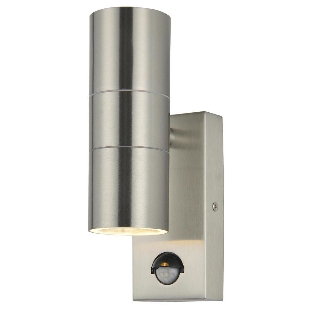 Leto 2 Light Outdoor Up And Down Wall Light With PIR