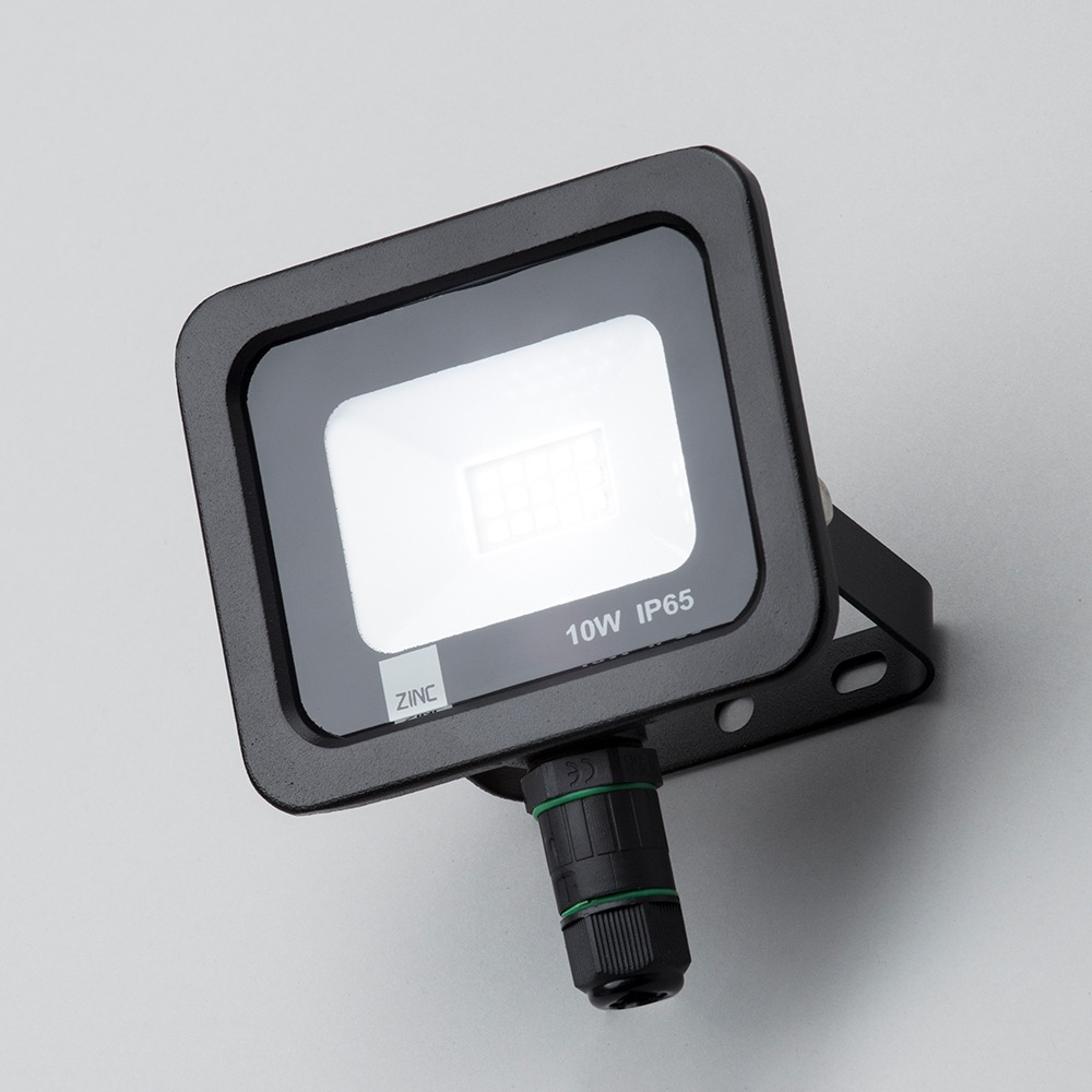 Yarm outdoor led 10 watt slimline flood light black from litecraft wall flood lights aloadofball Image collections