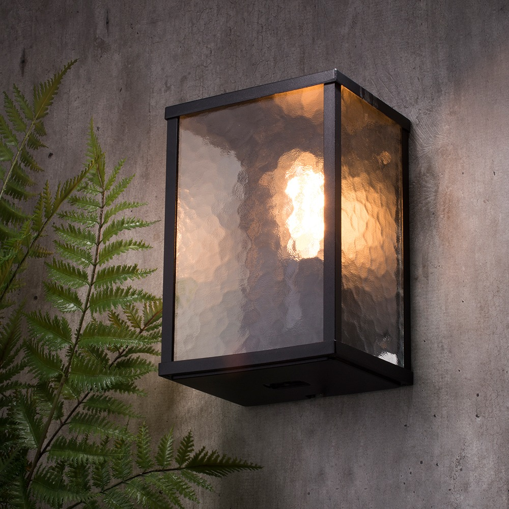 Acton Single Outdoor Black Amp Frosted Glass Wall Light