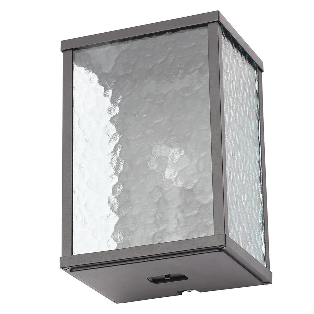 Acton outdoor 1 light wall light with frosted glass panels for Outdoor glass wall panels