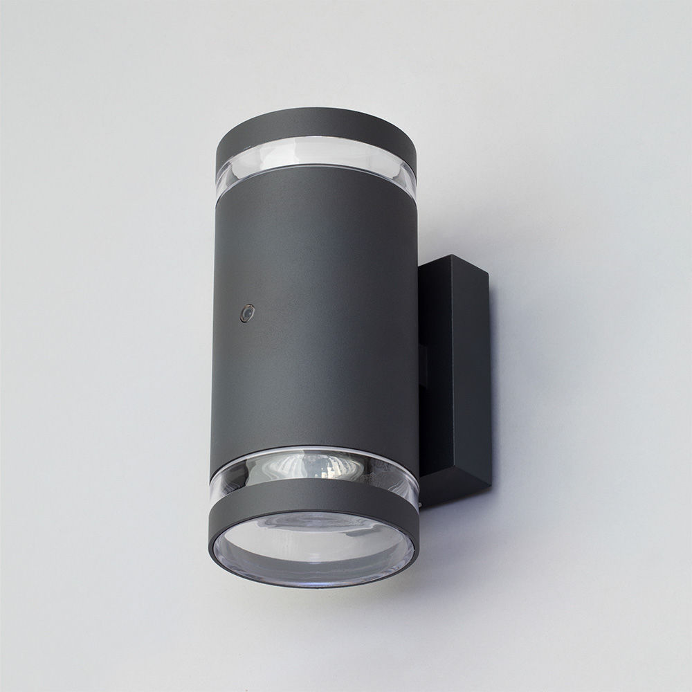 Helo Outdoor Up Down Wall Light With Photocell