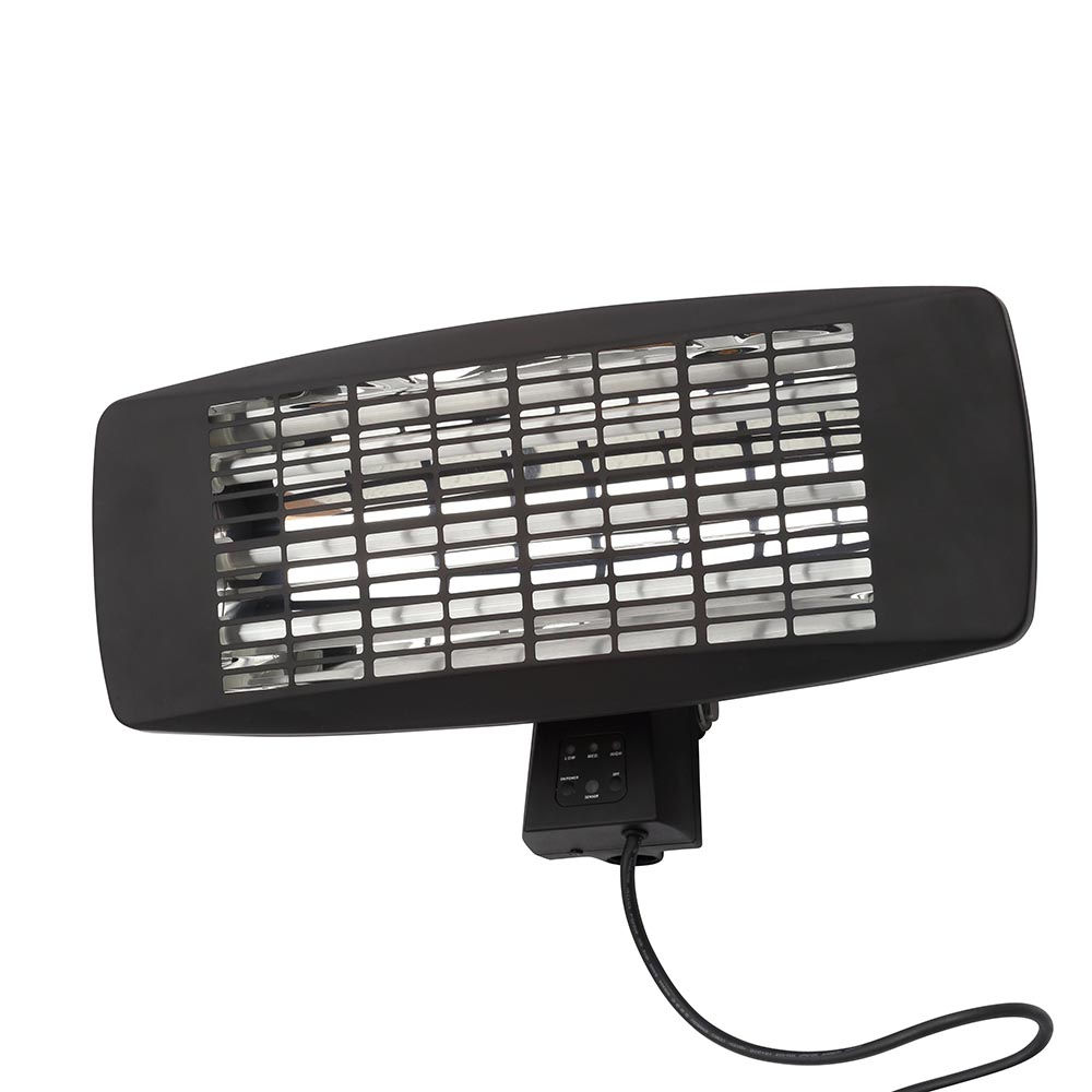 2000w Small Wall Mounted Radiant Patio Heater Black