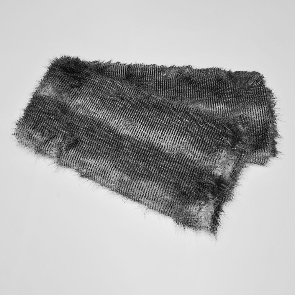 Luxury Faux Fur Throw  Grey