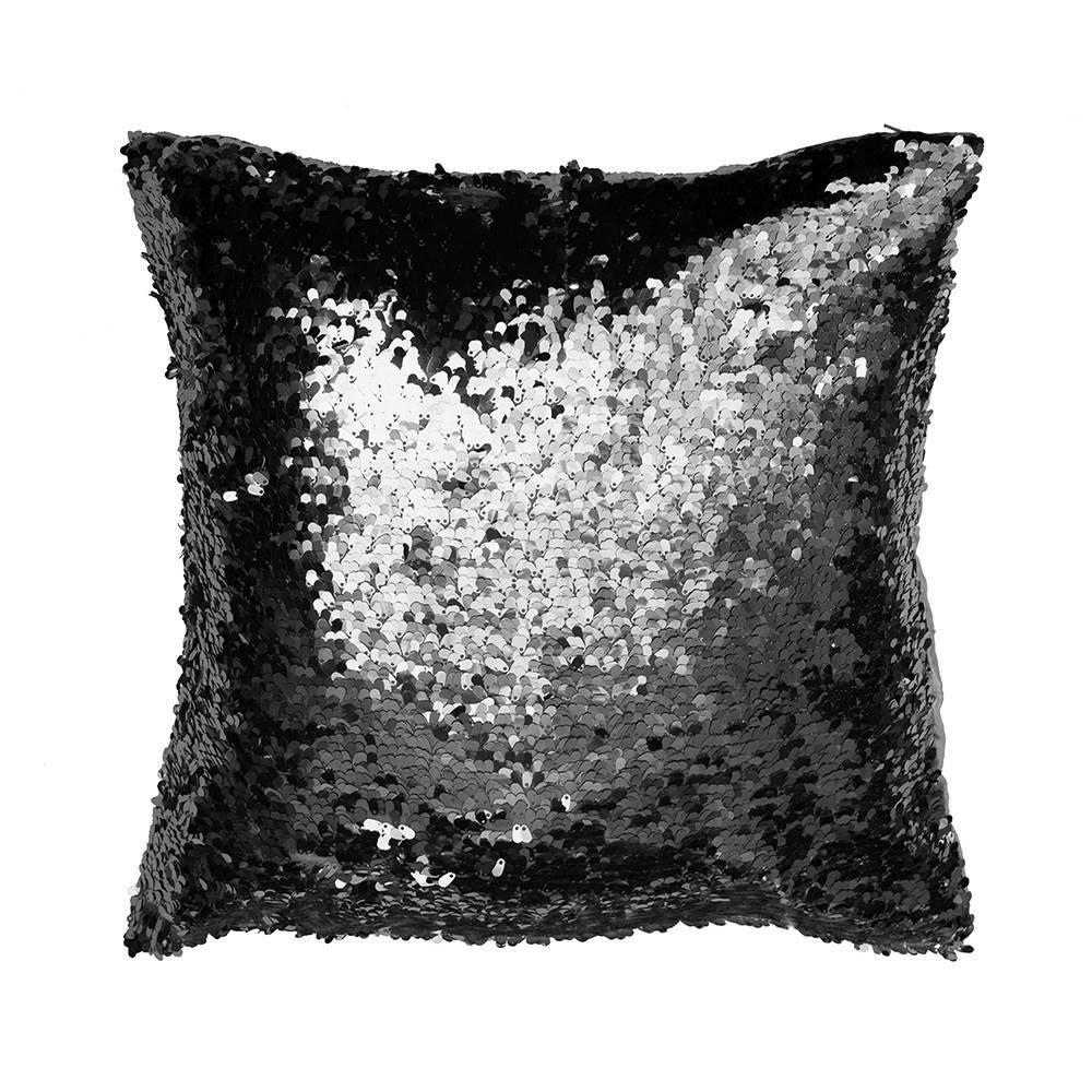Glitz Black Sequin Cushion from Litecraft