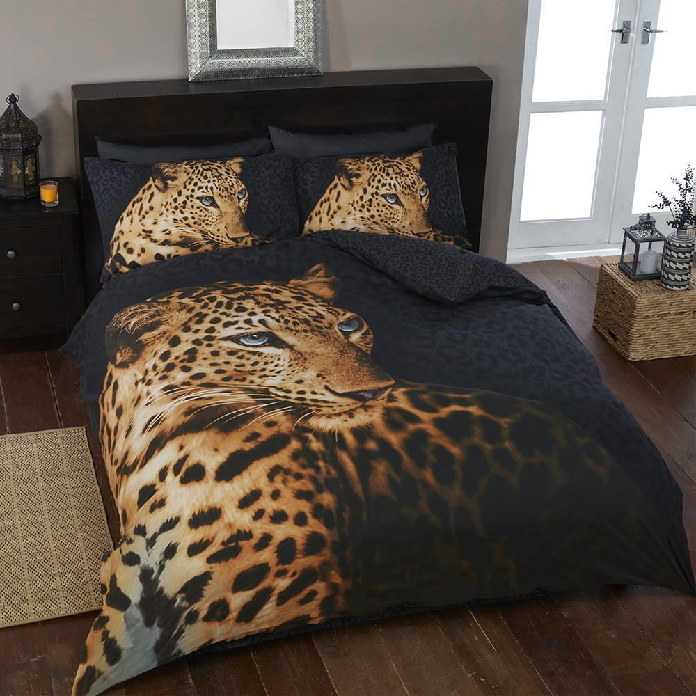 Jaguar 200cm x 135cm Single Duvet Set  Orange