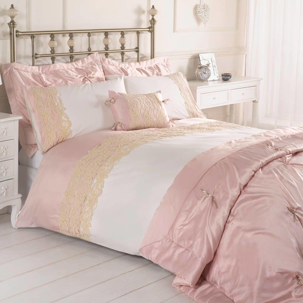 Jenna Single Duvet Set  Pink