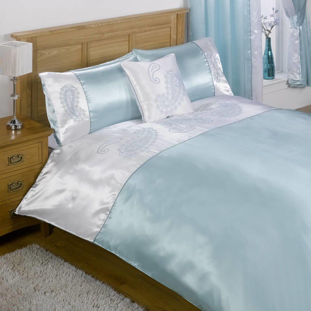 Lighting Sakkara Single Bed and Curtain Set - Duck Egg Blue