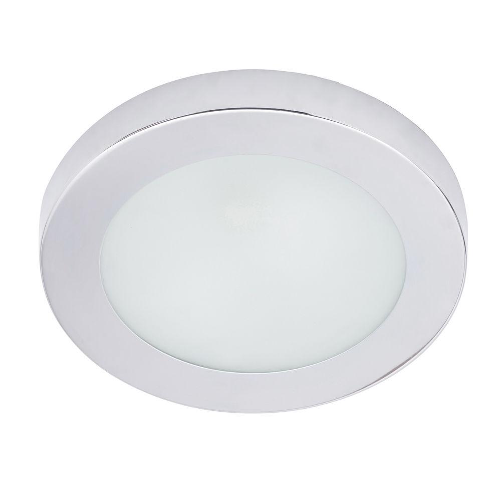 Chester 1 Light Circular Bathroom Flush Ceiling Light - Chrome