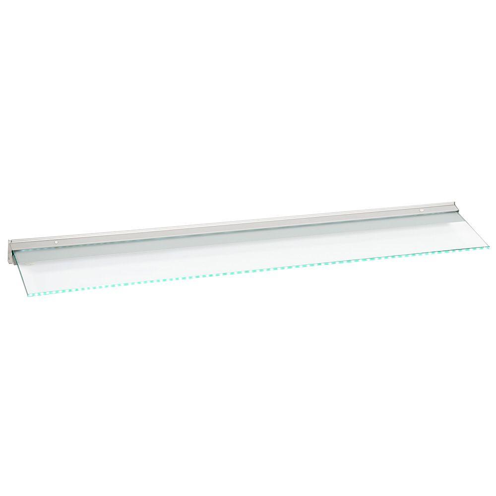 Lighting|Light Bulbs Fleetwood 120cm Illuminated Kitchen LED Glass Shelf - Aluminium