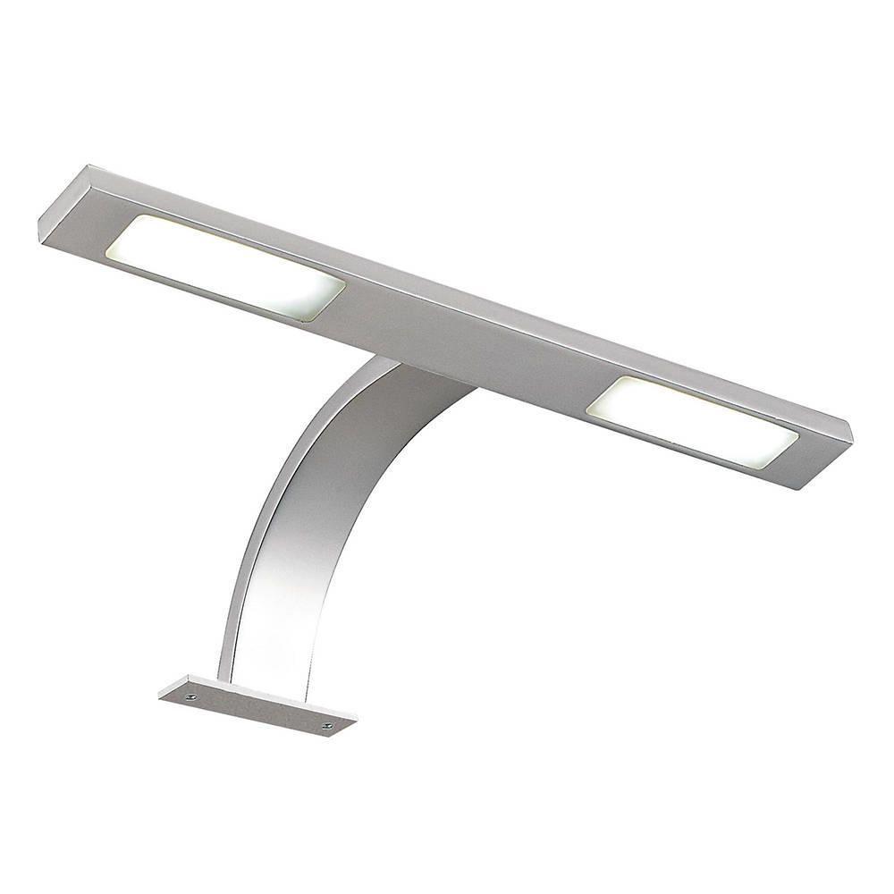 Litecraft Wade 2 Light LED Arm Over Kitchen Cabinet Light - Nickel