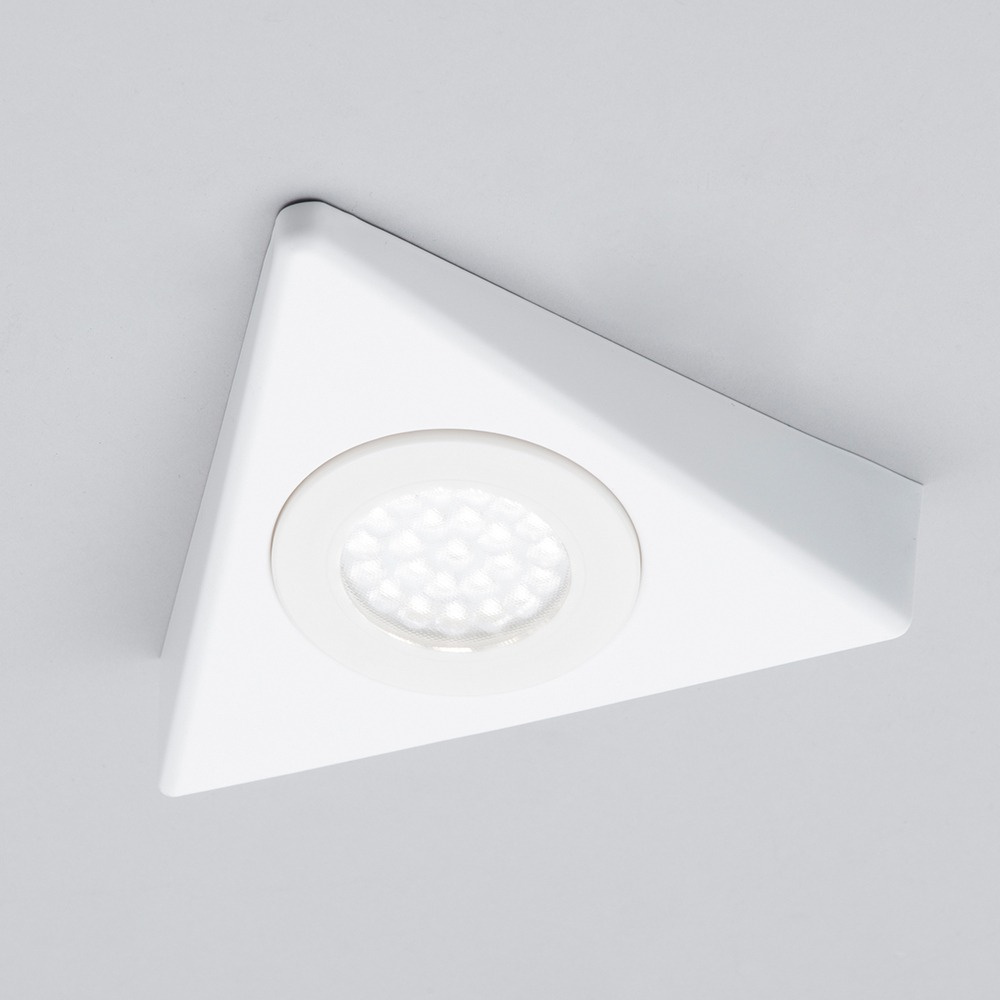 A Guide To Kitchen Lighting From Litecraft: Buxton LED White Triangular Kitchen Cabinet Light
