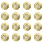 16 Pack of IP65 Rated Recessed GU10 Downlight - Brushed Brass