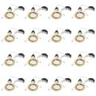 6 Pack of Tilt Recessed GU10 Downlight with LED Bulbs - Brushed Brass