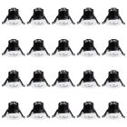 20 Pack of Integrated LED IP65 3000K Fixed Fire Rated Downlight - Chrome