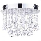 Melanie Crystal Effect & Chrome Flush Ceiling Light