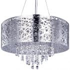 Ashley Pendant Ceiling Light Dual Mount Drum 9 Bulb - Chrome