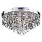 Teardrop Crystal Flush Ceiling Light - Chrome