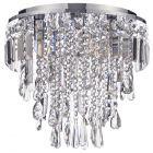 Spa Pro - Brona 3 Light Bathroom Flush Ceiling Light - Chrome