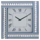 Square Clock with Smoked Mirrored Glass Frame - Smoke