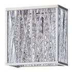Visconte Oblast Frame Wall Light with Crystal Droplets - Chrome