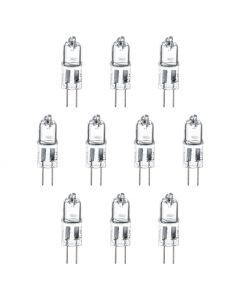 10 Pack of 10 Watt G4 Halogen Light Bulbs - Clear