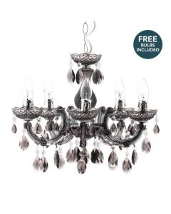 Marie Therese 5 Light Dual Mount Chandelier with LED Bulbs - Smoke