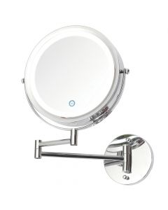 Toscana LED Battery Operated Touch Mirror Wall Light - Chrome