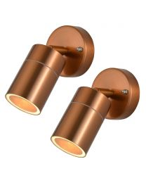 2 Pack of Kenn 1 Light Adjustable Outdoor Wall Light - Copper