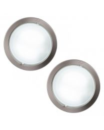 Round Recessed Ceiling Light - Satin Chrome