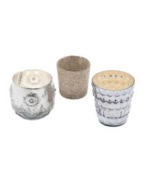 3 Light Cup Table Lamp Cluster Set - Glass
