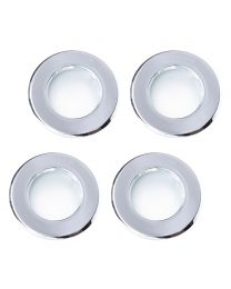4 Pack of Diecast IP65 Rated Downlight with LED Bulbs - Chrome