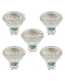 5 Pack of 6 Watt LED 6500K GU10 Light Bulb - Daylight White