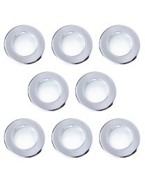 8 Pack of Diecast IP65 Rated Downlight with LED Bulbs - Chrome