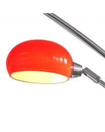 Single Red Shade For Arc Nero Floor Lamp