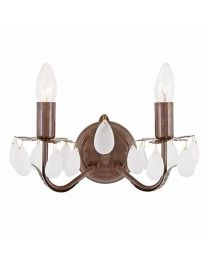 Antique Wall Light - 2 Light - Bronze
