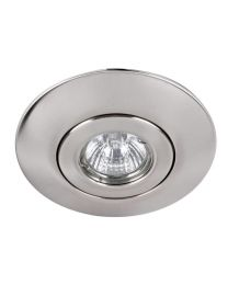 Brushed Chrome Recessed Downlight Conversion Kit