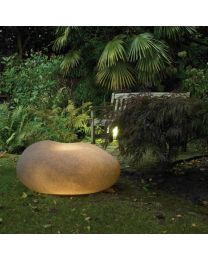 Xantian LED Outdoor Light Up Pebble - Light Grey