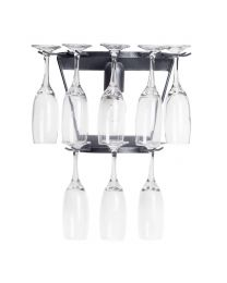 Black Wall Light 2 Tier Champagne Flute