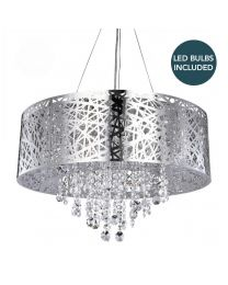 c01-lc1988 LARGE CEILING PENDANT LIGHTS METAL SHADE LED BUNDLE