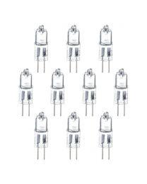 10 Pack of 20 Watt G4 Halogen Light Bulbs - Clear