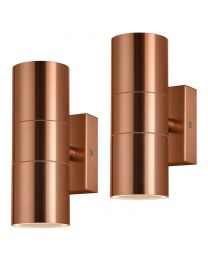 2 Pack of Kenn 2 Light Up and Down Outdoor Wall Light - Copper