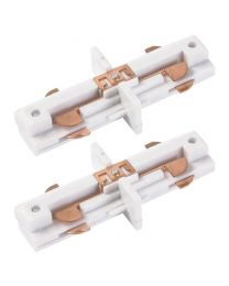 2 Pack of Butt Connector for Single Circuit Main Track in White