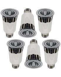 6 Pack of 5 Watt LED E27 Edison Screw Spotlight Light Bulb - White