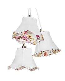3 Light Floral Shade Cluster - Cream