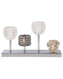 Gatsby 4 Light Glass Table Lamp - Chrome