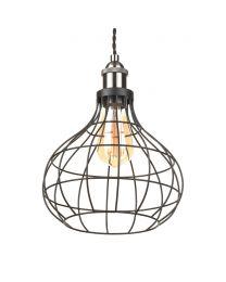Ellen Pendant Light Onion Wire Shade - Matte Black