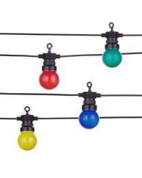 12 Indoor Festoon String Lights - Multicoloured